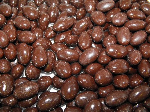 Chocolate covered almonds as a dessert