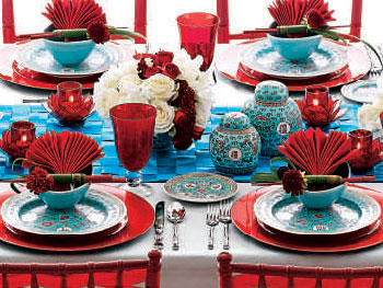Summer Dinner Party Table Setting