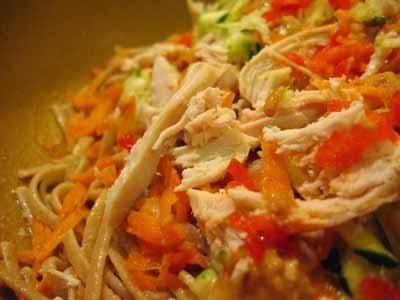 Shredded chicken can be added to chicken casseroles, Spanish mix grills, chicken noodles, etc