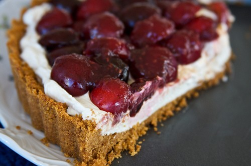 Sumtuous and healthy cherries used in tart