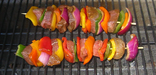 Meat Vegetable Kabobs