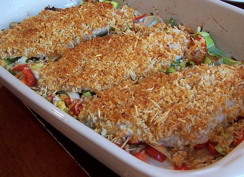 Baked Tilapia ready to be served.