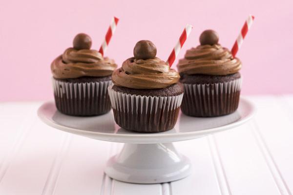 Malt Shake Cupcakes