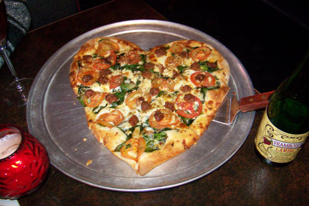Heart-Shaped Pizza At Home