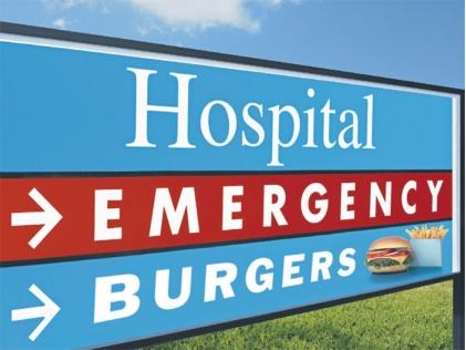 Junk food hospitals