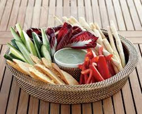 woven chip and dip set