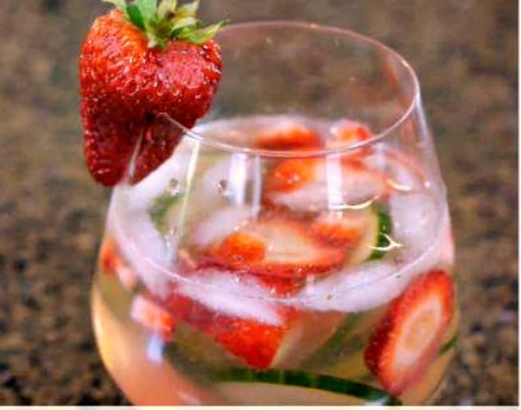 Cucumber Strawberry Caipirinha