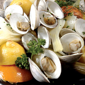 Clams for steaming