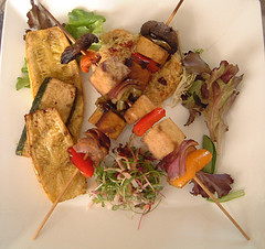 Tofu Vegetable Skewers