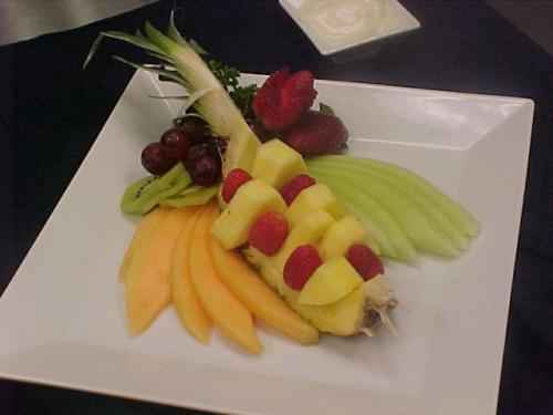Fresh Fruit Platter In Breakfast Party Menu