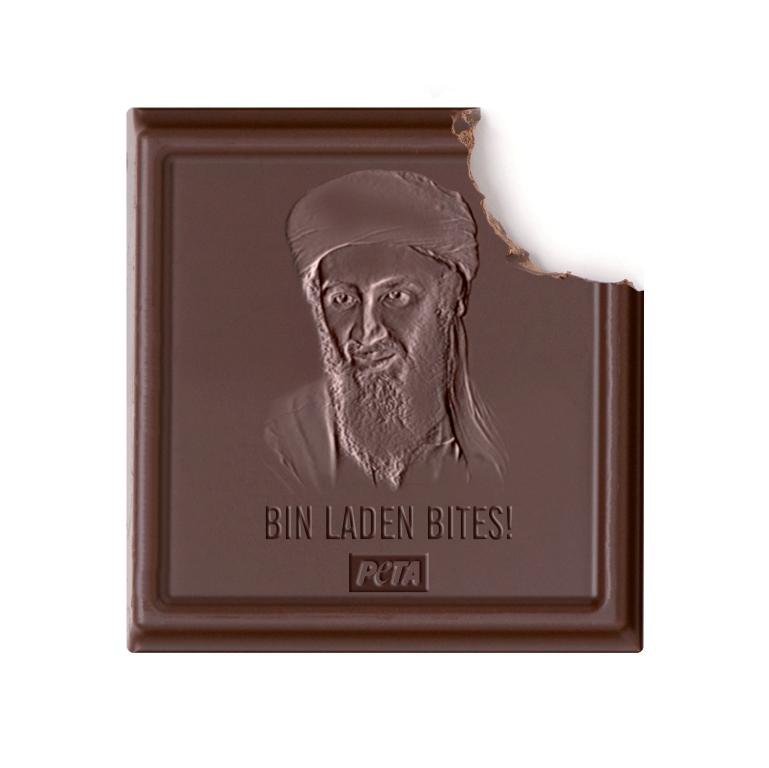 PETA Bin laden Chocolate Bites