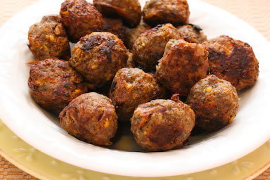 Delicious meatballs ready to be eaten