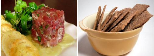 Tuna Tartare with Rye Crisps