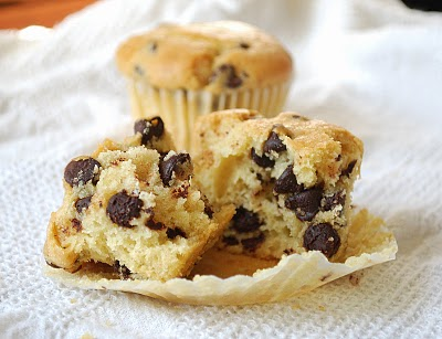 Chocolate Chip And Walnut Muffins