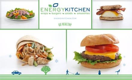 The Energy Kitchen menu