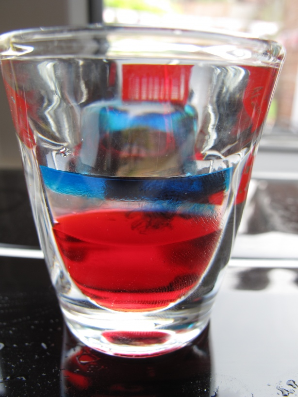 Red, White and Blue Shooter For 4th Of July Menu