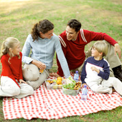 Picnics are all about food, food and more food.