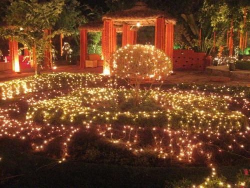 Now isnt that a gorgeous lighting decoration for a wedding party Indian