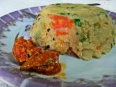 South Indian Breakfast - Green Peas And Tomato Upma