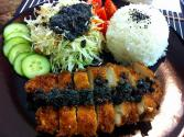 Chicken Katsu And Black Sesame Dressing