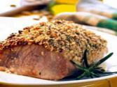 Pork Mini Roast With Pine Nuts And Rosemary Rub
