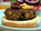 Spicy Butternut Squash &amp; Black Bean Burger
