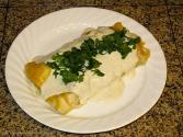 Chicken Salsa Verde And Cheese Enchiladas