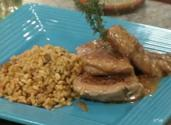 Apricot Mustard Glazed Pork Tenderloin