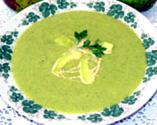Avocado Soup With Condiments