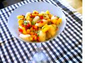 Asian Style Bay Scallop And Mango Ceviche