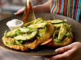 Buffalo Mozzarella, Avocado, Thyme & Potato Pizzas With Chili Oil