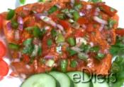 Chili Salmon With Salsa Cruda