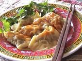 Chinese Dumplings With Hot And Sour Sauce