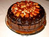 Chocolate Cake With Fresh Cream Topping