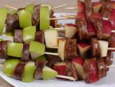 Sausage And Apple Skewers