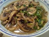 Mushroom Sauce Seasoned With Worcestershire Sauce
