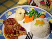 Stuffed Chicken Minced Steak With Mushroom Sauce