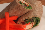 Tandoori Chicken And Cucumber Wrap