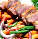 Duck With Papaya And Green Beans