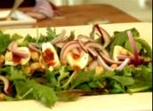 Goat Cheese Salad With Barbeque Fig Sauce