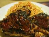 Condiment Grilled Chicken With Asian Rice Noodle Salad