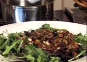 Mushroom Salad With Hazelnut Dressing