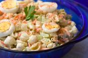 Macaroni Salad With Cooked Peas
