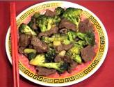 Beef And Broccoli With Baked Noodle Cake