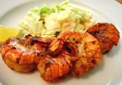 Barbecued Shrimp In A Pan