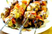 Bison And Vegetable Kebab