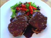 Pork Steaks With Plum Glaze
