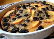 Peach And Blackberry Flognarde With Thyme And Black Pepper