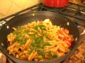 Penne Pasta With Salmon And Greens