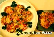 Vegetarian Korean Rice Pizza